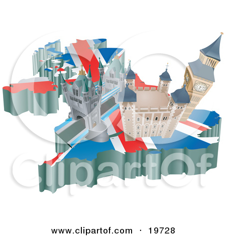 Clipart Illustration of French Tourist Attractions; The Basilica.