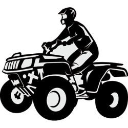 Atv Black And White Clipart.