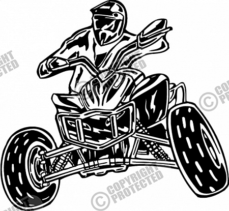 Atv rider clipart.