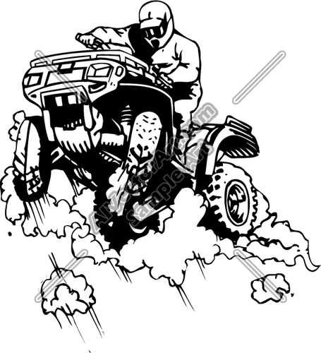 Quad Clipart and Vectorart: Vehicles.