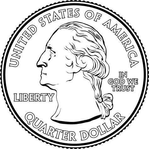 Portrait On A Quarter Clipart Etc in 2019.