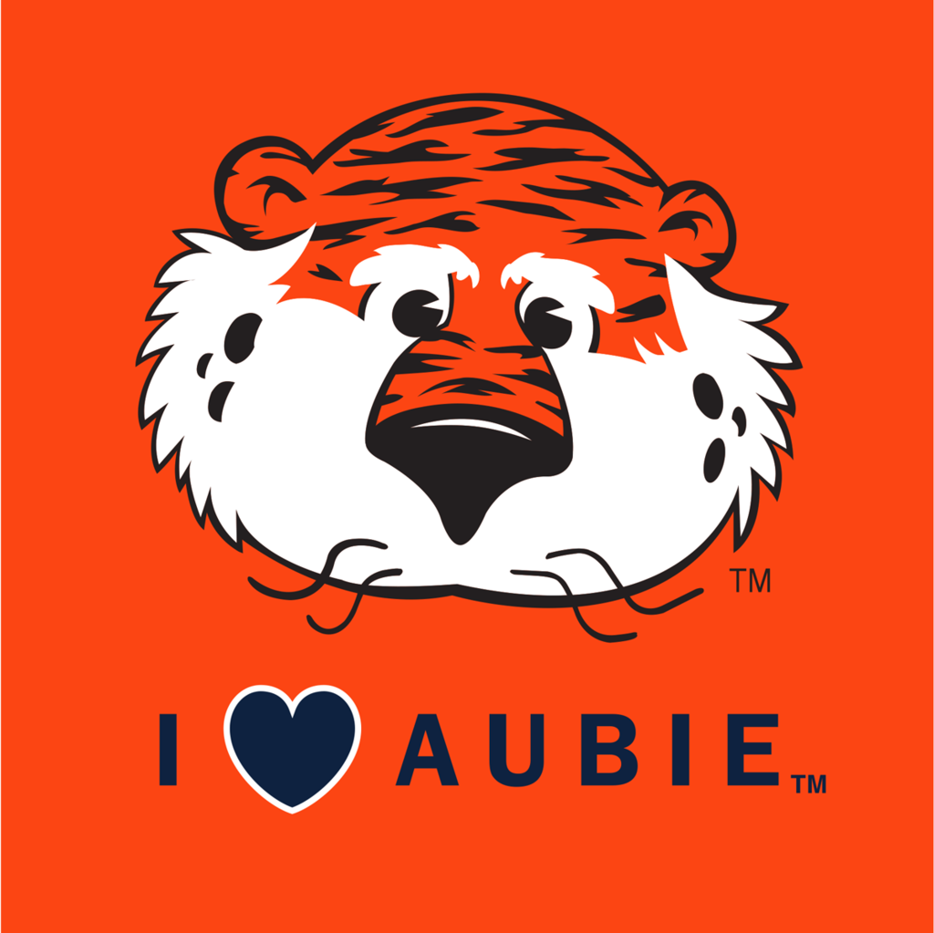 I Heart Aubie Decal.