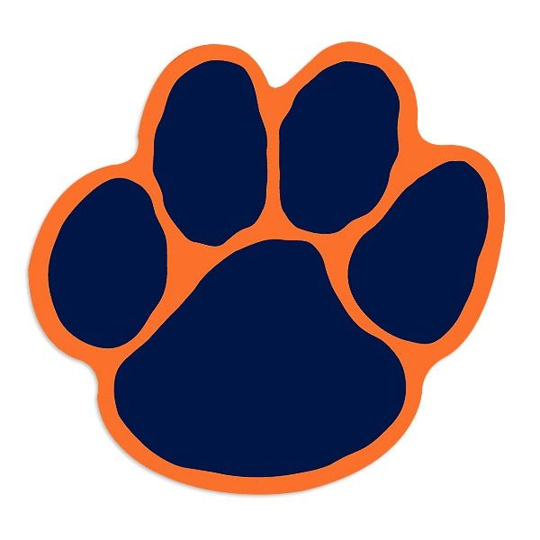 Download Auburn Tiger Paw Clipart.