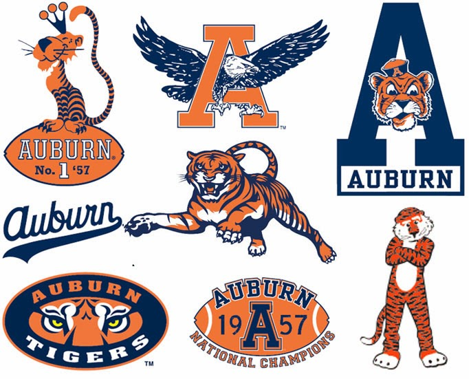 Auburn Logos: Then and Now.