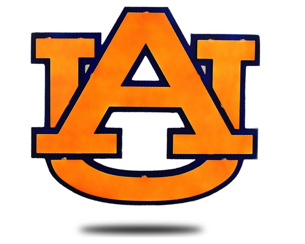 Auburn University 3D Vintage Metal Artwork.