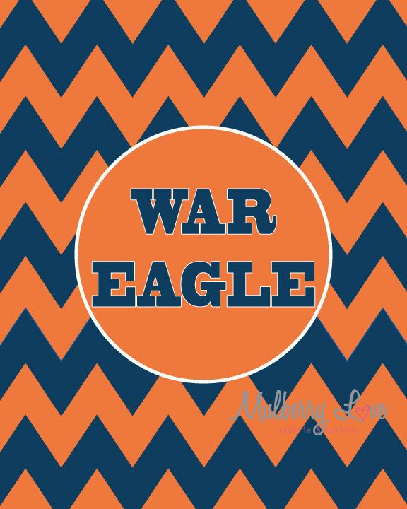 Auburn Tiger War Eagle Chevron 8x10 Art Print. $12.00, via Etsy.