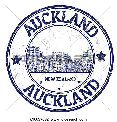 Clipart of Auckland stamp k16037682.
