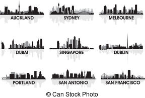 Auckland city skyline Clip Art Vector Graphics. 40 Auckland city.