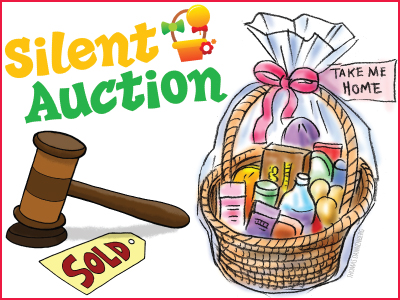 Auction clipart auction basket, Auction auction basket.