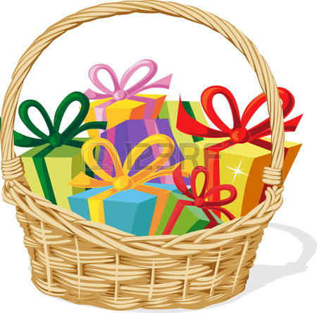 6383 Basket free clipart.