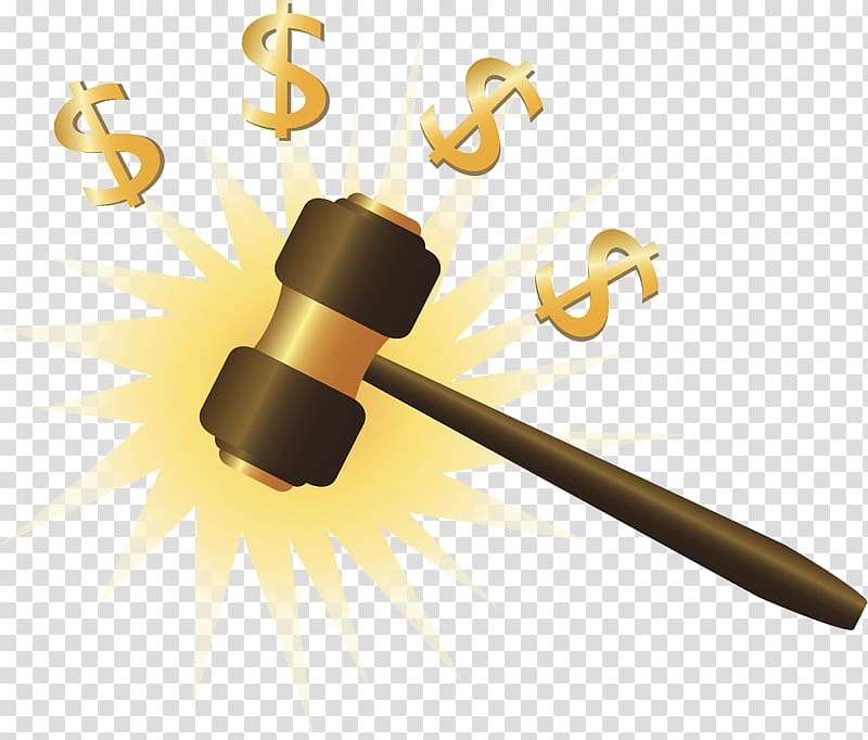 Auction Gavel Hammer Taobao, Cartoon,US dollars,Auction.