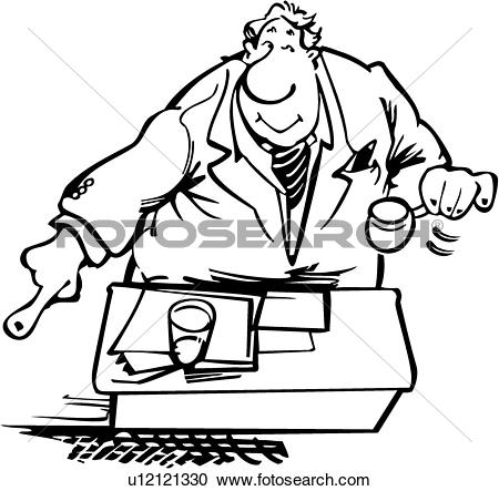 Clipart of , auction, auctioneer, profession, trade, cartoons.