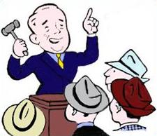 Free Auctioneer Clipart.