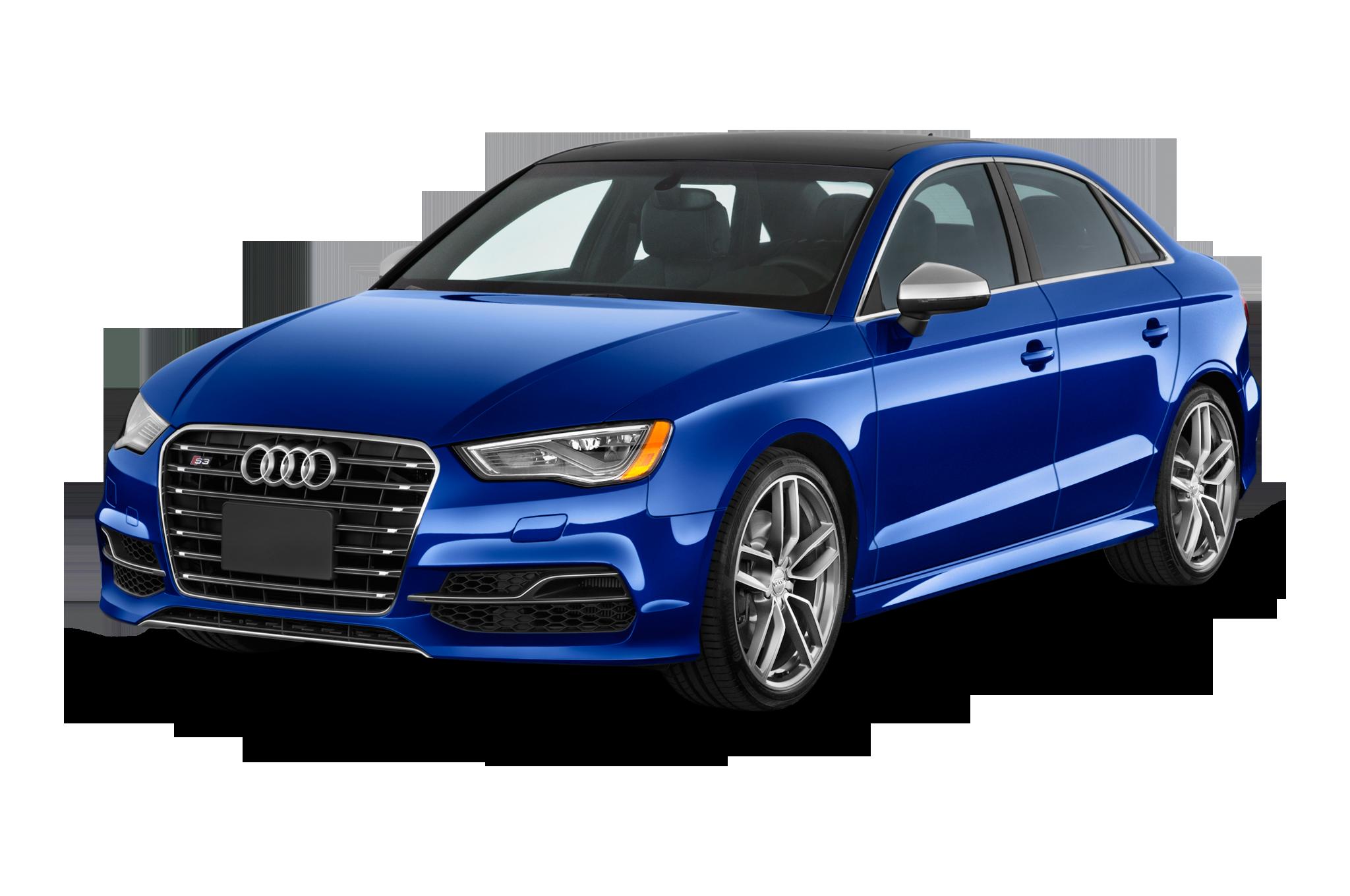 Blue Audi PNG Image Background.
