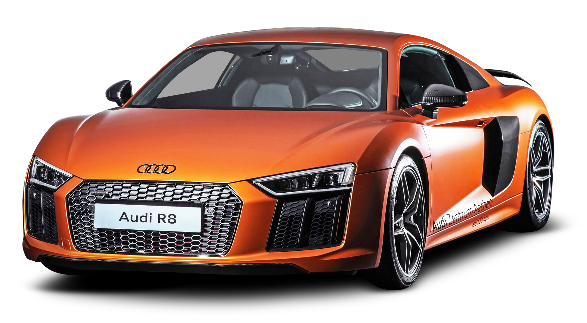 HD Orange Audi R8 Car PNG #45322.