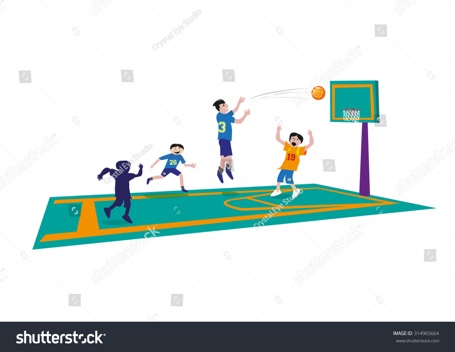 Basketball Game Clipart.