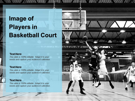 Image Of Players In Basketball Court Ppt PowerPoint.