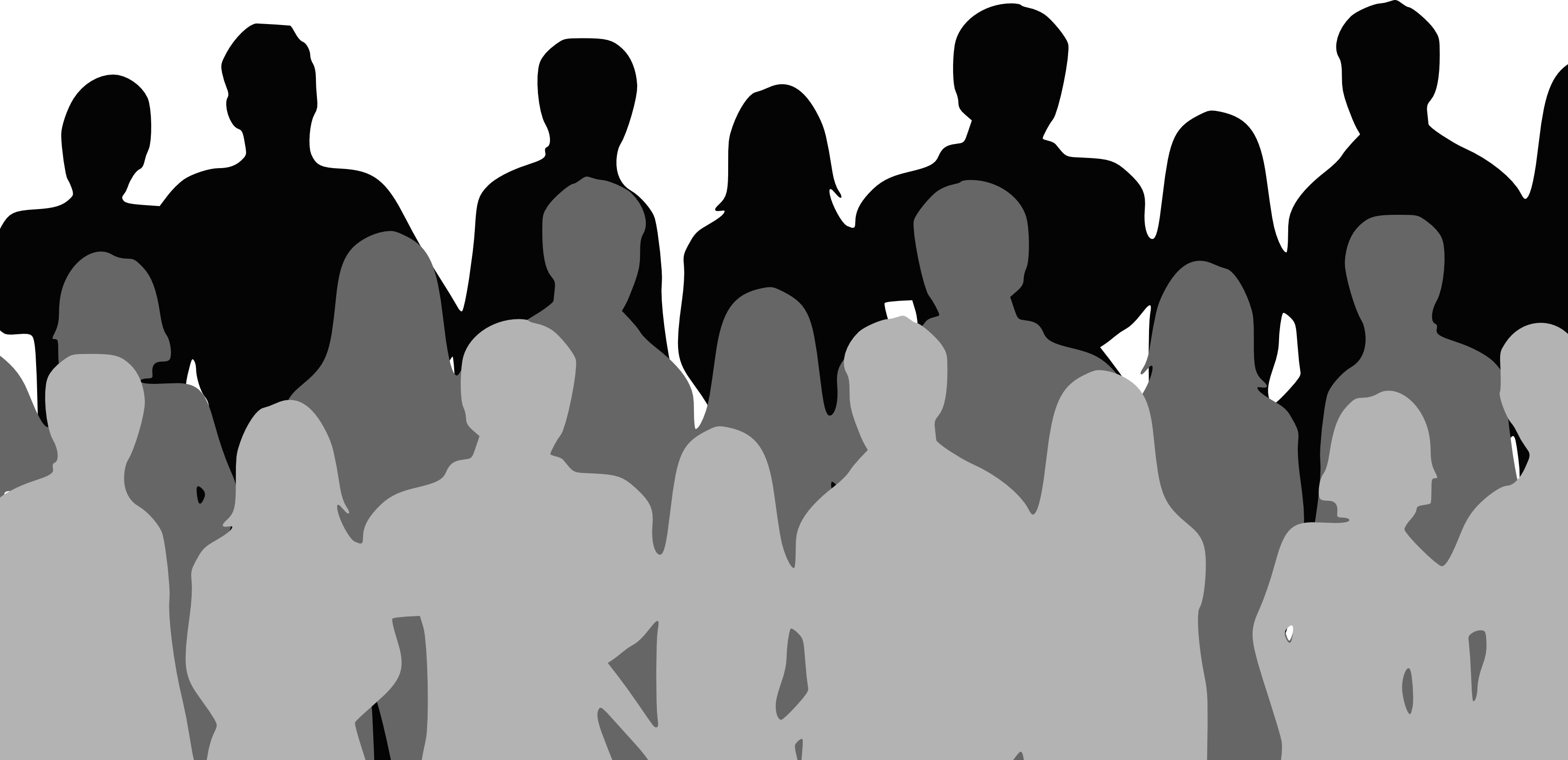 Audience Silhouette Clipart.