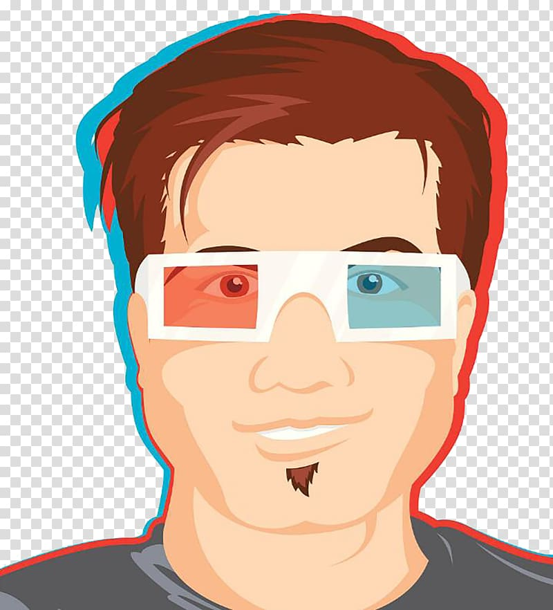 Glasses 3D film, Watch the movie audience transparent.