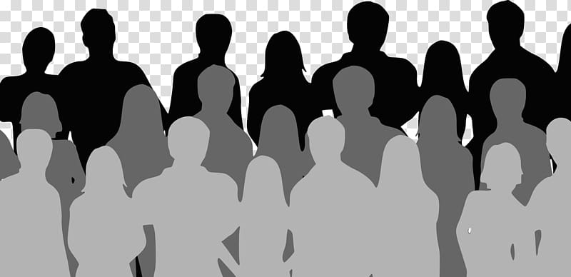 Group of person illustration, Social media Audience Crowd Silhouette.