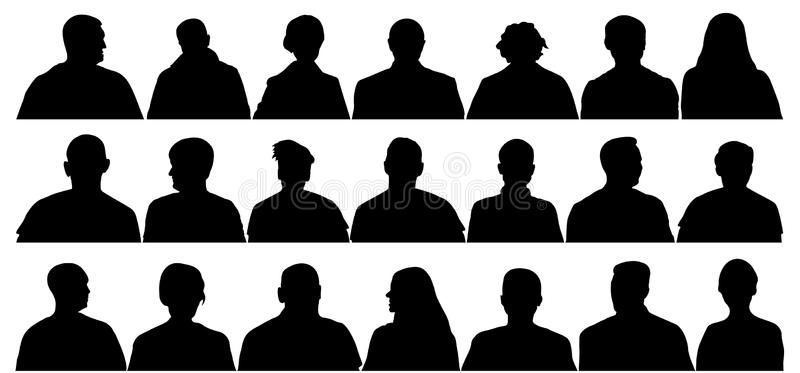 Audience Silhouette Stock Illustrations.