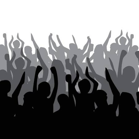 316 Transparent Silhouette Crowd Stock Vector Illustration And.