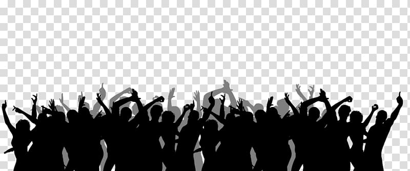 Crowd Silhouette, audience silhouette transparent background PNG.