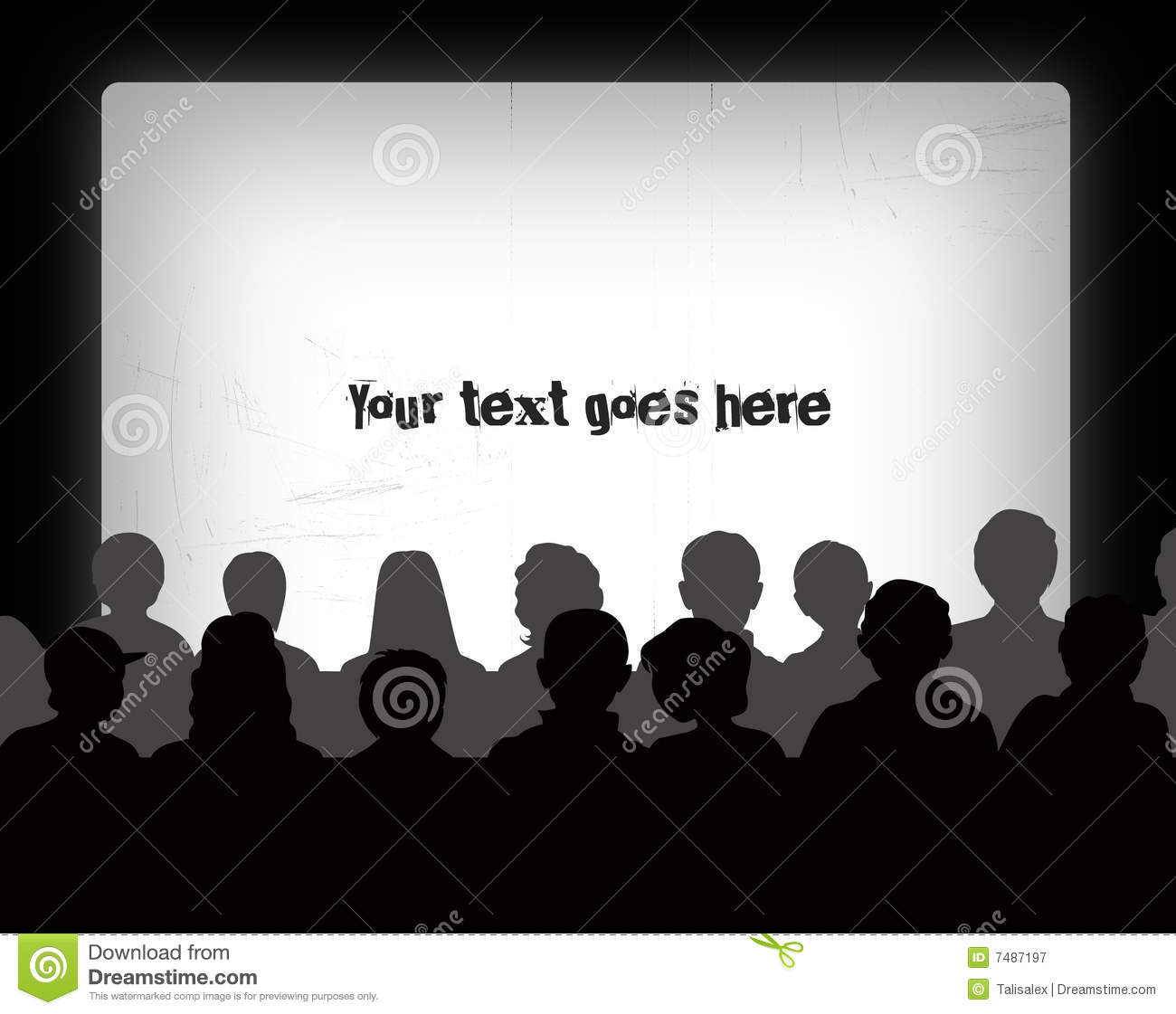 Audience silhouettes stock illustration. Illustration of event.
