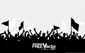 Free Clipart Of Audience Silhouette.