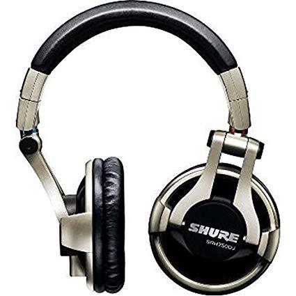 Shure SRH750DJ Professional Quality DJ Headphones (Gold).