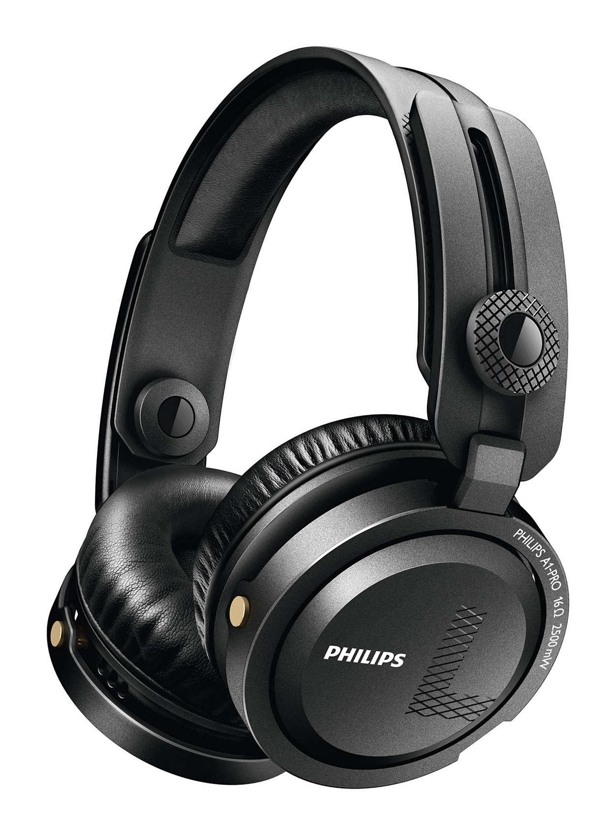 Professional DJ headphones.