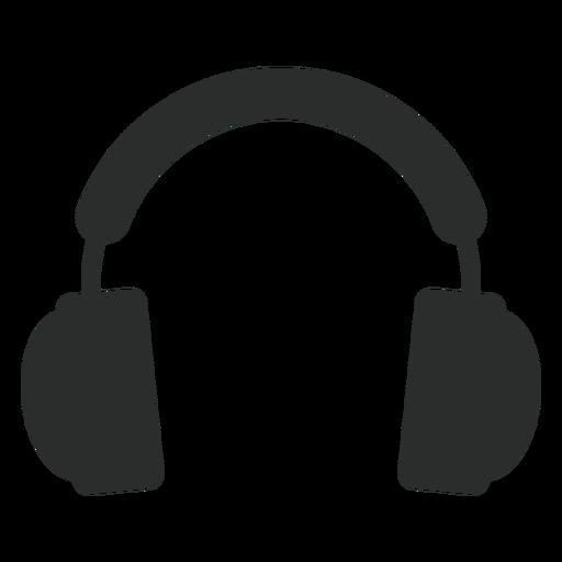 Audífonos multimedia icono plana.