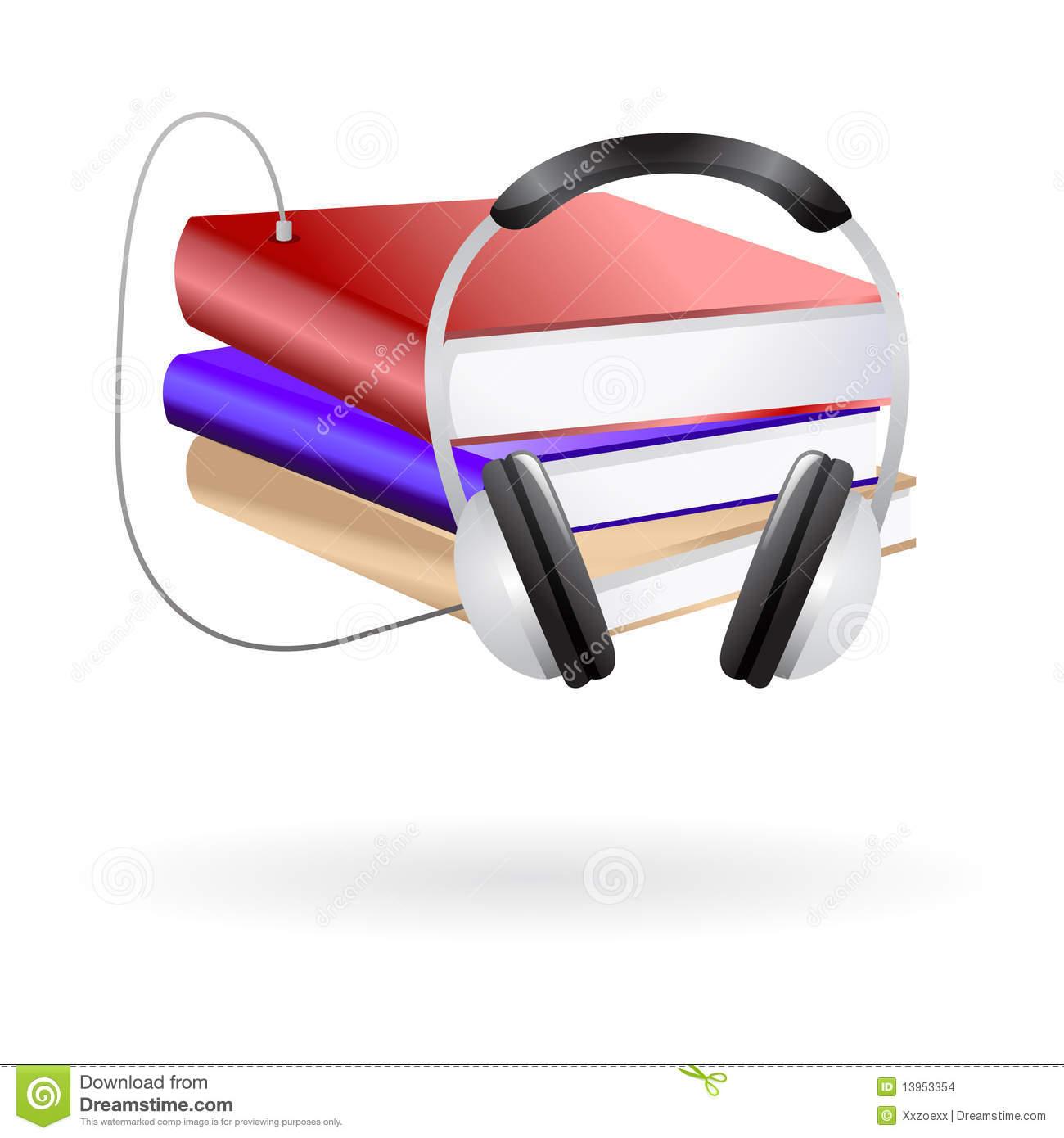 Audio Books Clip Art Stock Images.