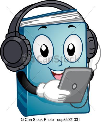 Mascot Audio Book Tablet Reading.