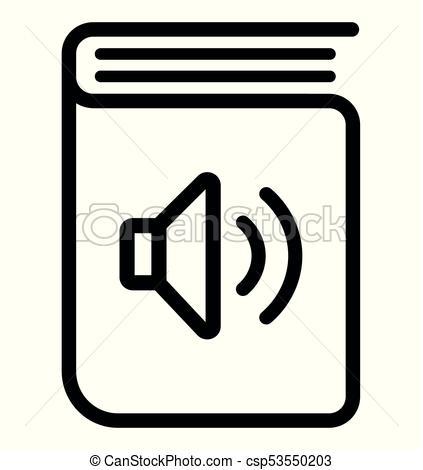 audio book icon on white background.