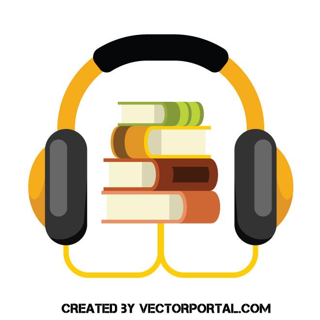 Audio book vector clip art.