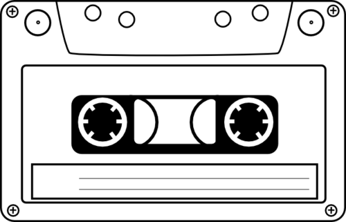Audio Tape Clip Art.