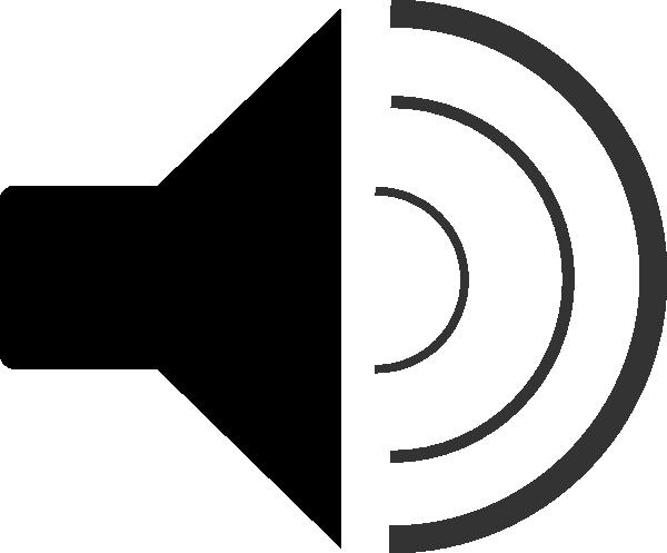 Sound Clipart Black And White.