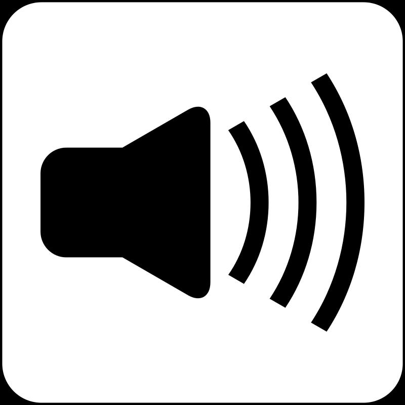 1418 Sound free clipart.