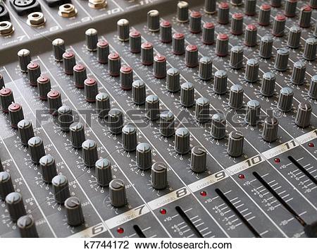 Stock Photo of Audiomixer.