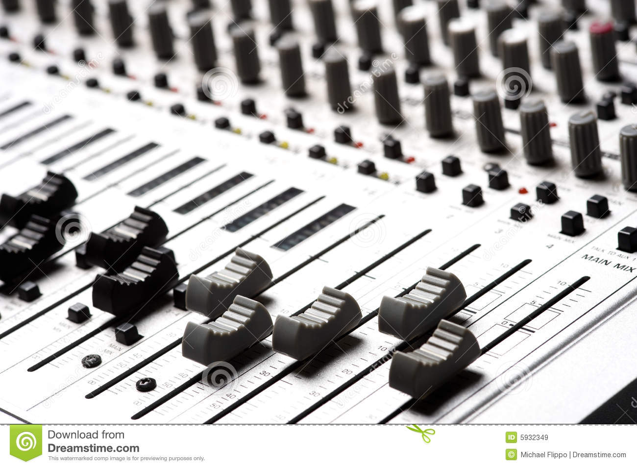 Audio Recording Equipment Royalty Free Stock Images.