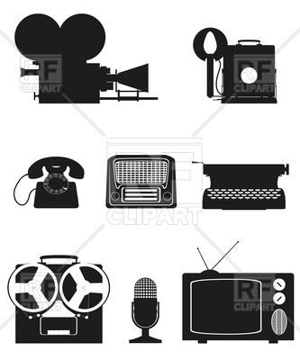 Av equipment clip art.
