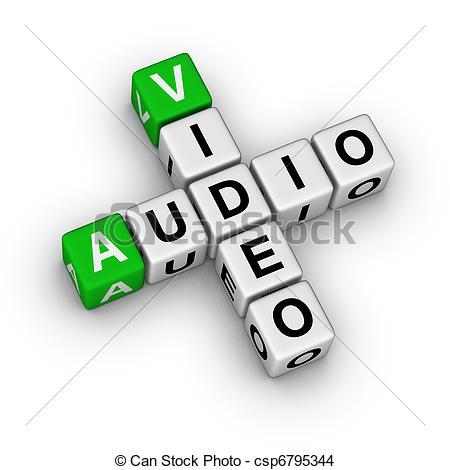 Audio Visual Equipment Clipart.