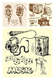 Audio Clip Art, Vector Audio.