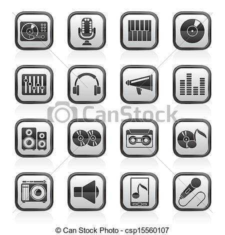Audio cliparts.
