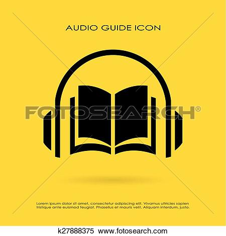 Clipart of Audio guide icon k27888375.