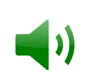 Green Audio Icon Clip Art.