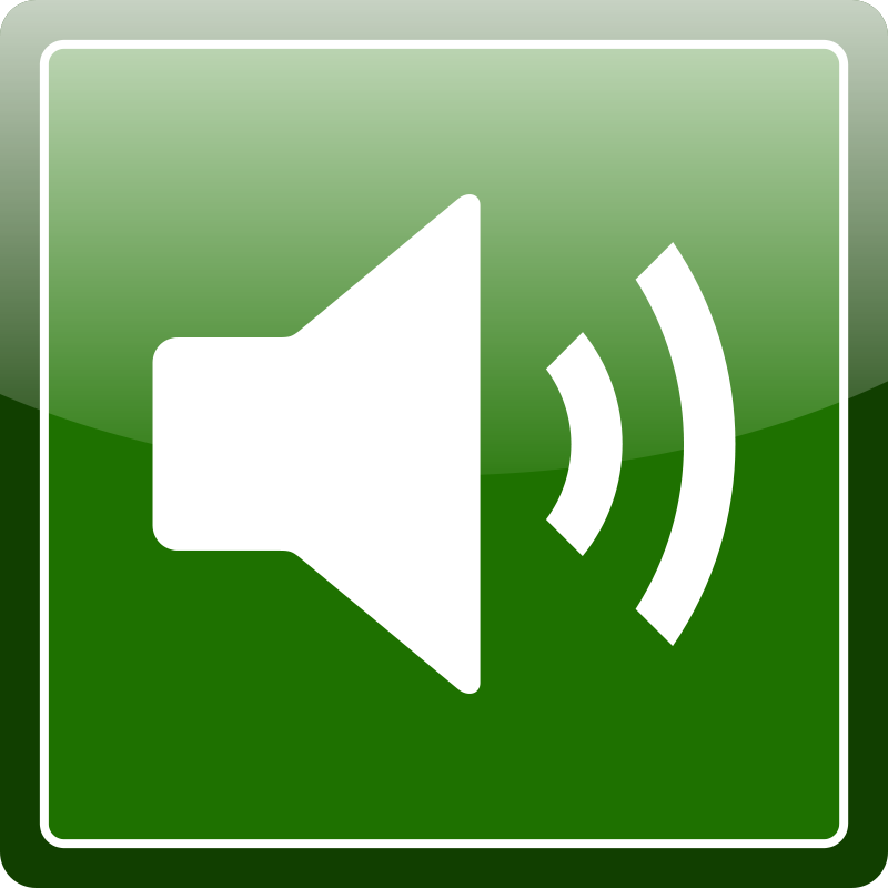 Free Clipart: Green audio icon.