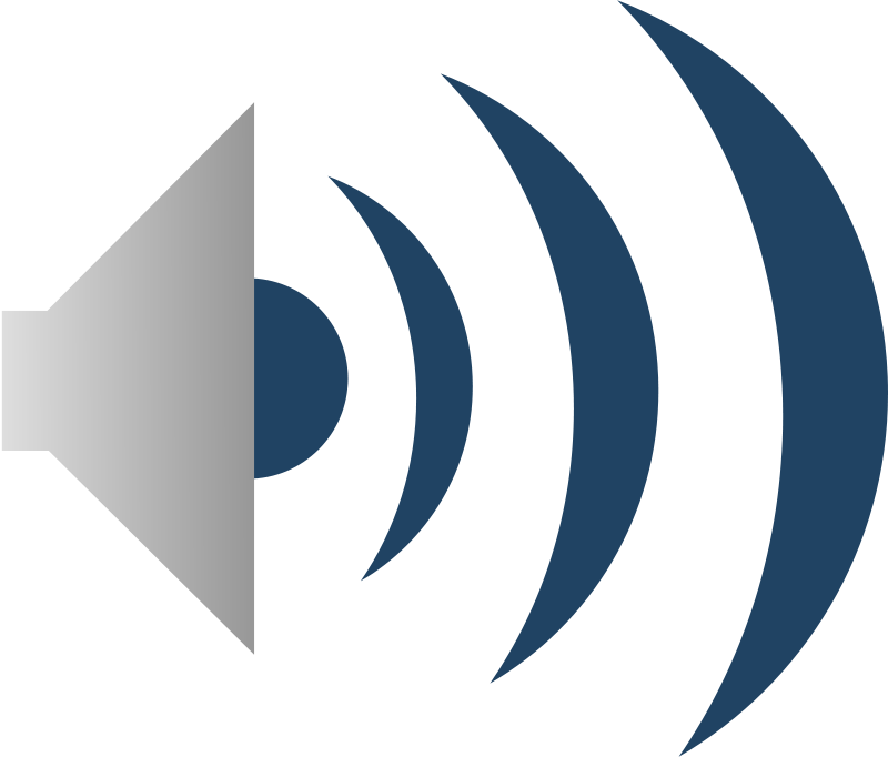Free Clipart: Audio icon.