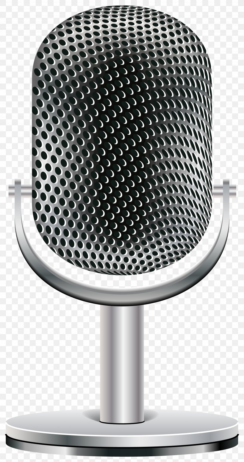Microphone Clip Art Transparency Image, PNG, 3497x6609px.